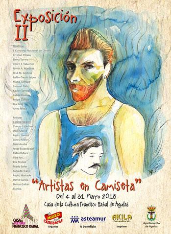"""Cartel 2ª Exposición """"Artistas en Camiseta"""""""