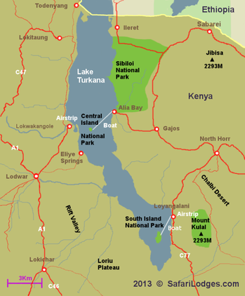 Central Island National Park - Map