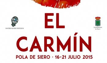 Cartel y programa de las Fiestas del Carmen y Carmín en Pola de Siero