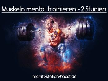 Muskeln mental trainieren - 2 Studien