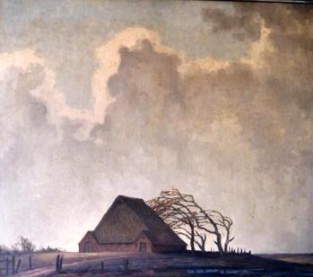Titel: Haubarg Eiderstedt, Teknik: 71,0 cm x 81,0 cm
