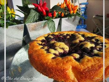 Gâteau méga moelleux aux mûres du Clos