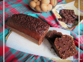 Cake chocolat, müesli noisettes fait au blender