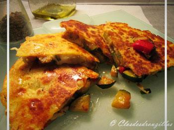 Quésadillas aux légumes grillés