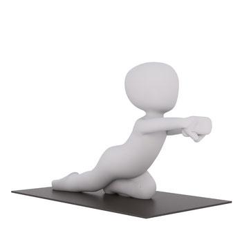 Dehnung der Muskeln Faszien verhindert Muskelverkürzung