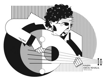 Retrato Rabin Abou-Khalil