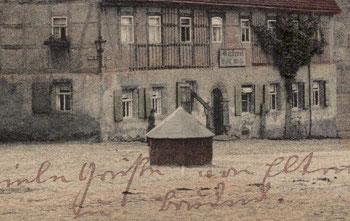 alte AK Kohren Markt Kohren-Sahlis alter Brunnen