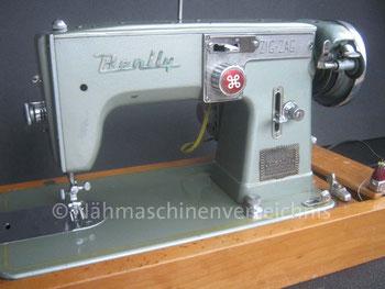 Benlly Zickzack, Haushalstnähmaschine, Flachbett, Hersteller: Nishio Precision Industrial Co. Ltd. Japan (Bilder: W. Bruß)