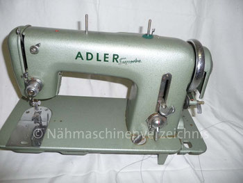 Adlermatic Superba 153, Flachbett-Zickzacknähmaschine, Baujahr: 1956, Hersteller: Kochs Adlernähmaschinen Werke AG, Bielefeld (Bilder: I. Weinert)