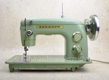 Zündapp ZR18a, Flachbett-Haushaltsnähmaschine für Pedalantrieb oder Anbaumotor, Hersteller: Zündappwerke München (Bilder: Nähmaschinenverzeichnis)