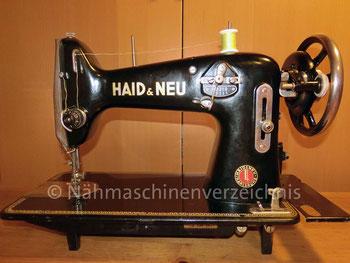 Hayd & Neu LZ, ZZ-Flachbettnähmaschine, Motoranbau möglich, Hersteller: Haid & Neu AG, Karlsruhe (Bilder: M. Bleich)