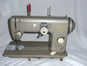 Pfaff 230, Flachbett, Fußantrieb, normale Vorrichtung für Anbaumotor vorhanden, Hersteller: G. M. Pfaff AG, Kaiserslautern, Baujahr 1956 (Bilder: I. Weinert)