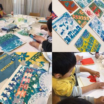 子供向けアートワークショップイベントのお知らせです。親子で参加もok