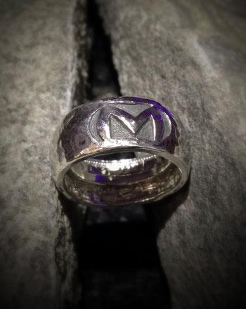 cc* handgemacht silber ring fünfliber Maria