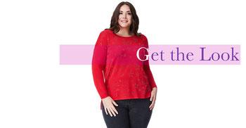 Damen Pullover rot in großen Größen