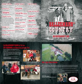 Booklett der CD mit Geschichten der Ballermann Ranch und Annette u. André Engelhardt