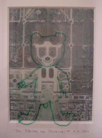 Vierfarbdruck, Folie, Folienstift, Klebestreifen.  22,5 x 28 cm. 2011.