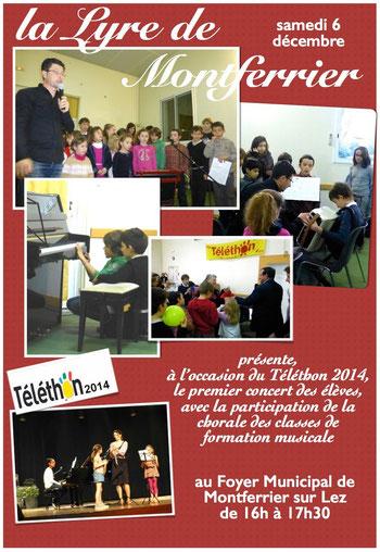 école de musique de montferrier sur lez concert telethon