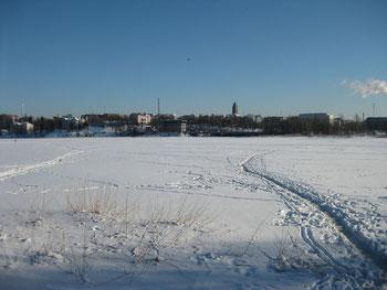 完全凍結したトーロー湾(2011年3月@Helsinki)