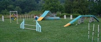 esempio di campo di agility.
