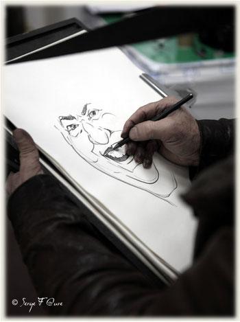 "André Hebbada - caricaturiste ""Fuzin"" - Les gueules de Rungis 2013"