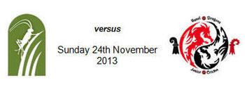 Zurich Crickets v Basel Dragons (24.11.2013)