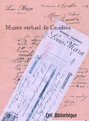 1894 Lettre au sujet d'une commande
