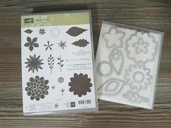 Stempelset Flower Patch mit passenden Framelits, WIE NEU, nur einmal benutzt, Preis: 50 Euro