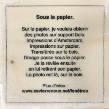 """Texte explicatif """"Sous le papier"""""""