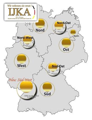Bild: Stützpunkte IJKA- Germany