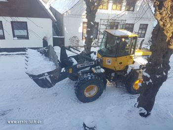 Ferienhaus Arnis Luth Lange Straße im Schnee, 03.03.2018