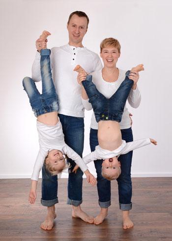 lustiges Familienfoto