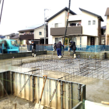 福山市の注文住宅はNacca Designで!基礎工事風景#1