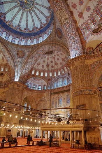 """In der """"blauen Moschee"""" (Sultan-Ahmed-Moschee)"""