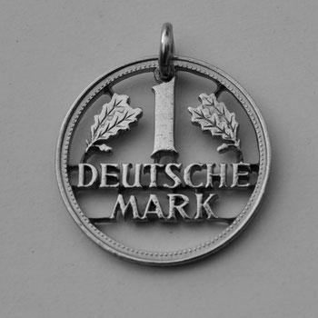Münzsagewerk Katrin Thull | Deutschland - 1 DM Schrift komplett