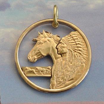Münzsägewerk Katrin Thull | USA - Indianer mit Pferd
