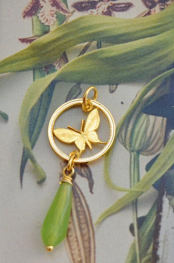 Münzsägewerk Katrin Thull | Papua Neuguinea - Schmetterling mit Stein