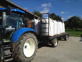 Transport von Big Bags mit Plattformwagen