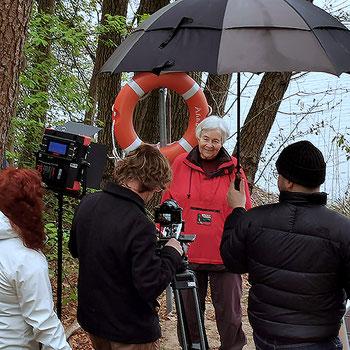 Gabi Jähnig beim ZDF-Interview