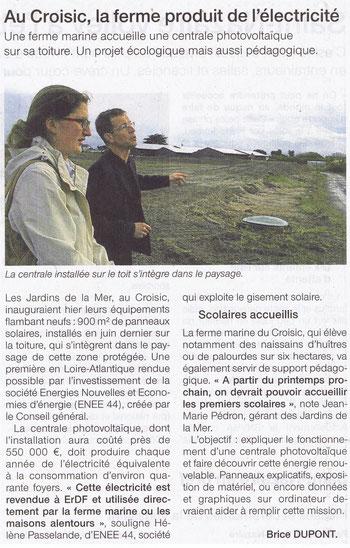 Ouest-France, 26 octobre 2011