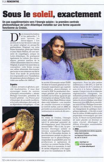 Le magazine du département, juillet 2011