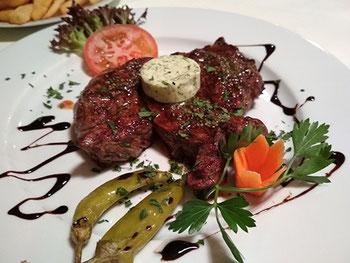 Steak mit Kräuterbutter Gasthaus Egardia Seckenheim