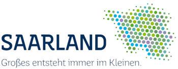 """Logo """"Saarland - Großes entsteht immer im Kleinen"""" wird dargestellt"""