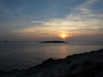 Sonnenuntergang am Kap Kamenjak