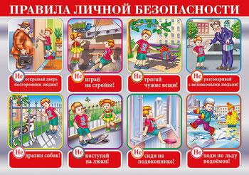 Правила личной безопасности для детей