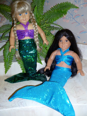American girl doll Ariel mermaid tail