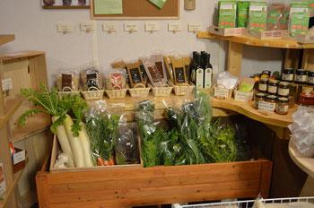 自然栽培の野菜や加工品