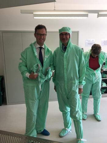 Besuch des Forschungsinstituts CSEM in Neuenburg, Juni 2017