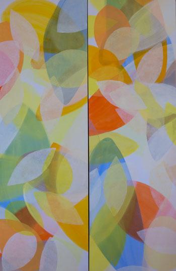 Acryl auf Lainwand 40x120 beide