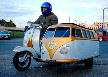 Min Traum; e Vespa oder doch en alte Bus, aber sicher nöd roschtig!